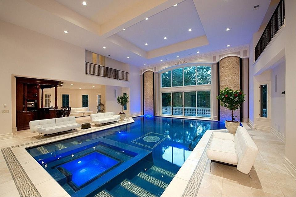 Luxury Swimming Pool With Beautiful Sofa