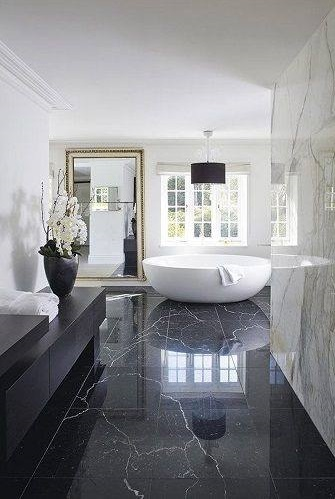 Mind Blowing Black And White Luxury Bathroom Design