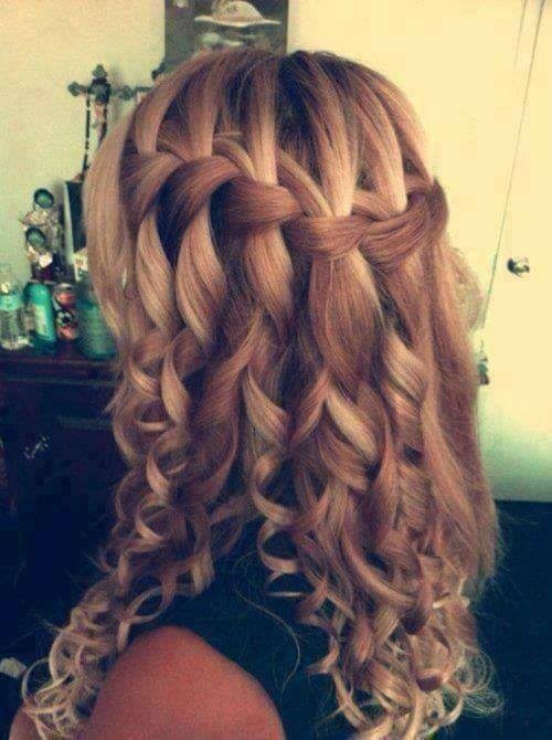 Mind Blowing Curls With Loose Braid