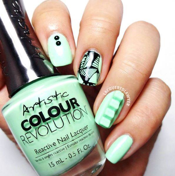 Mint Artistic Nails - 40 Alluring And Artistic Nails That Speak Of Your  Innate Art Sense - Artistic Nail Design Graham Reid