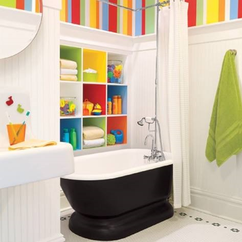 Modern Colorful Bathrrom For Kids