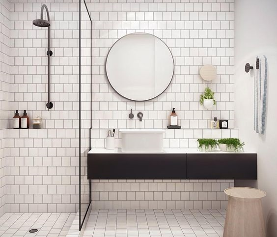 Modish Black & White Bathroom