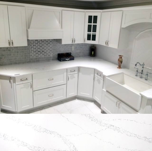 Natural White Marble Cooled Countertop