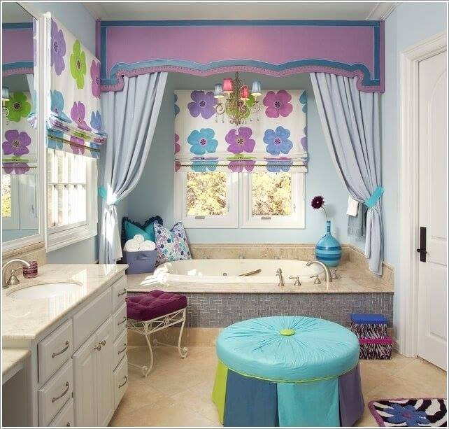 Outstanding Kids Bath With Adorable Mix of Colors And Lively Patterns