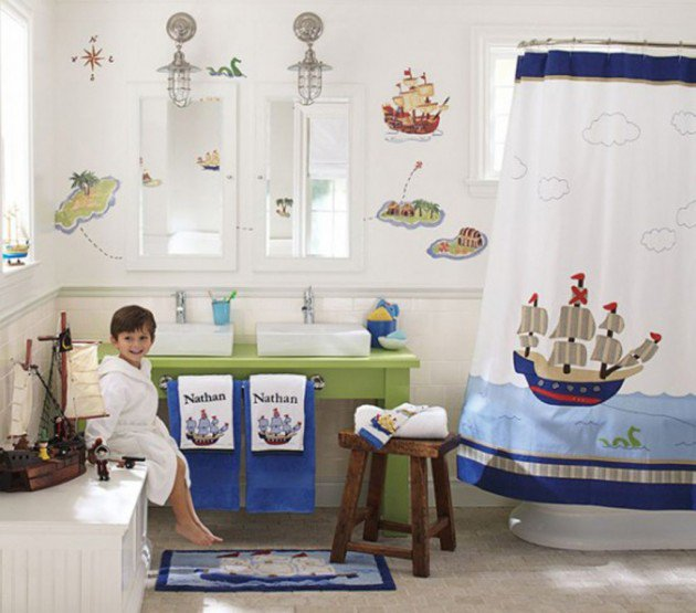 Pirate Theme Bathroom Decoration For Kids