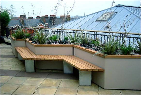 Plants In The Corner Is Nice Idea For Terrace Garden