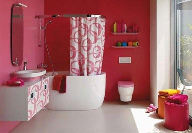 Preety Pink Bathroom Decor For Girls