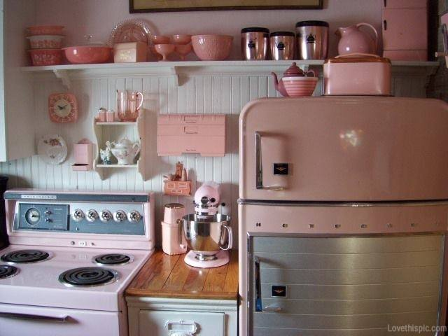 vintage pink kitchen accessories 50 smart and retro style kitchen ideas for that different look 6856
