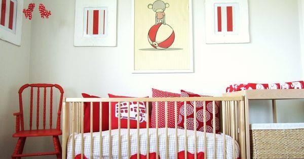 Red White Theme Nursery Decor Idea