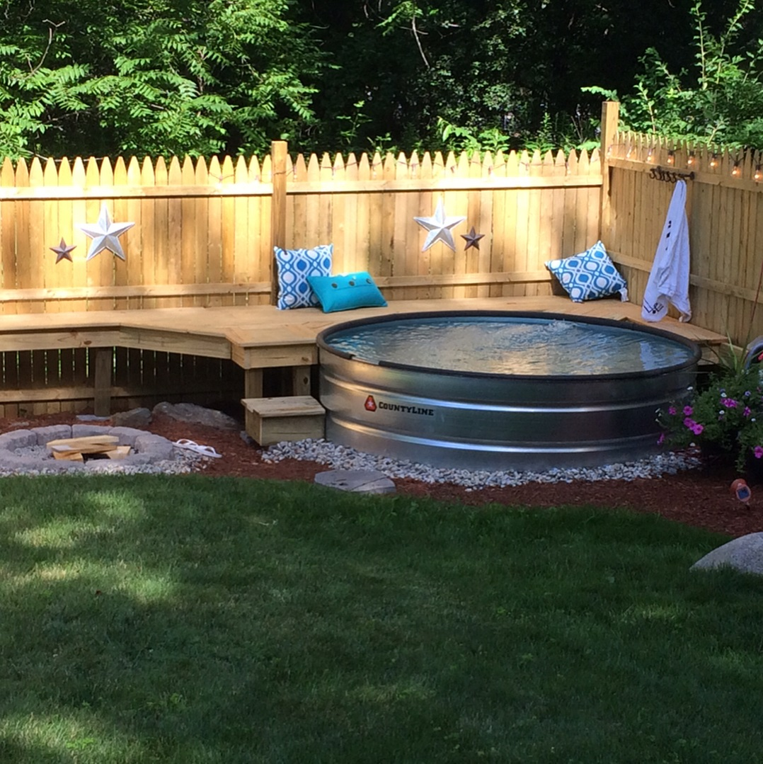Rustic Pool House Designs: 25 Refreshing Stock Tank Pool Ideas To Beat The Summer Heat