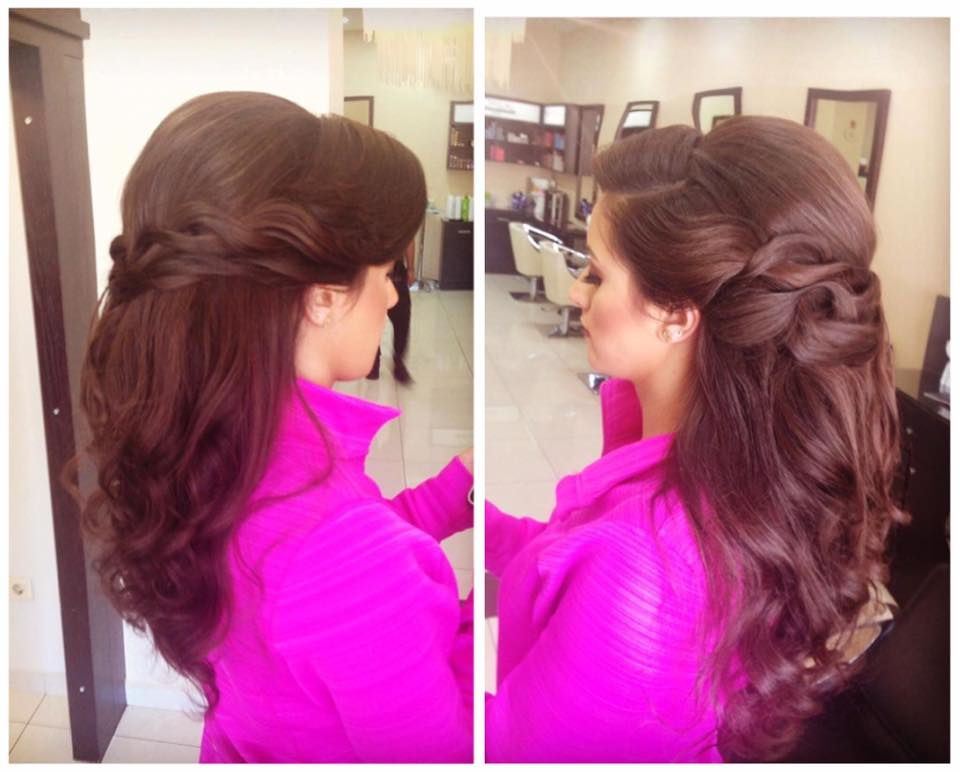 Sassy Loose Braid With Half Updo