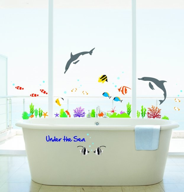 Sea Theme Bathroom Design Idea