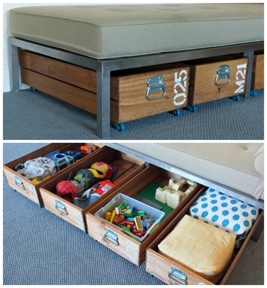 Ultimate DIY Rolling Toy Storage Crates