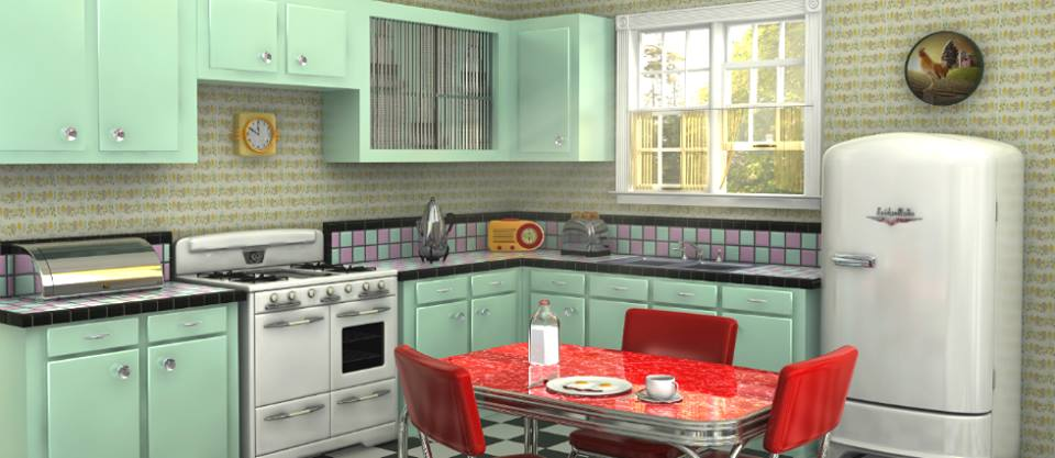 white fridge in kitchen. ultimate stylish kitchen with green cabinets, white fridge, red table \u0026 chairs fridge in