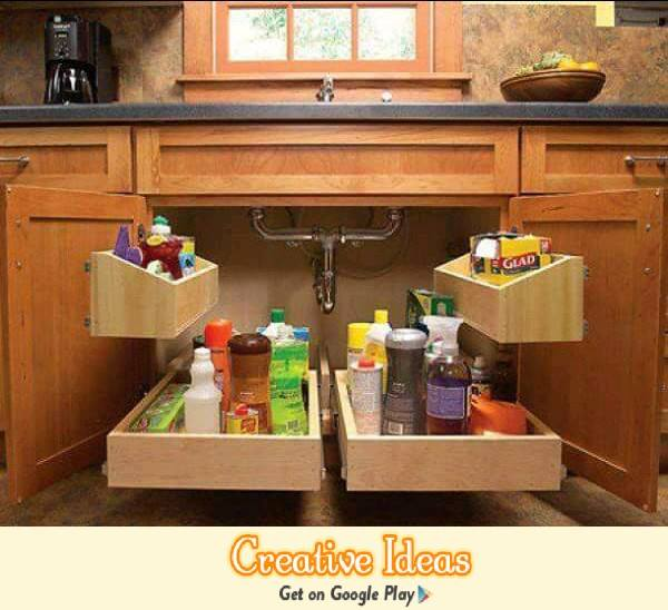 10 Amazing Ideas To Utilize The Space Under The Sink For Storage: 49 Amazing Kitchen Storage Ideas For Your Home