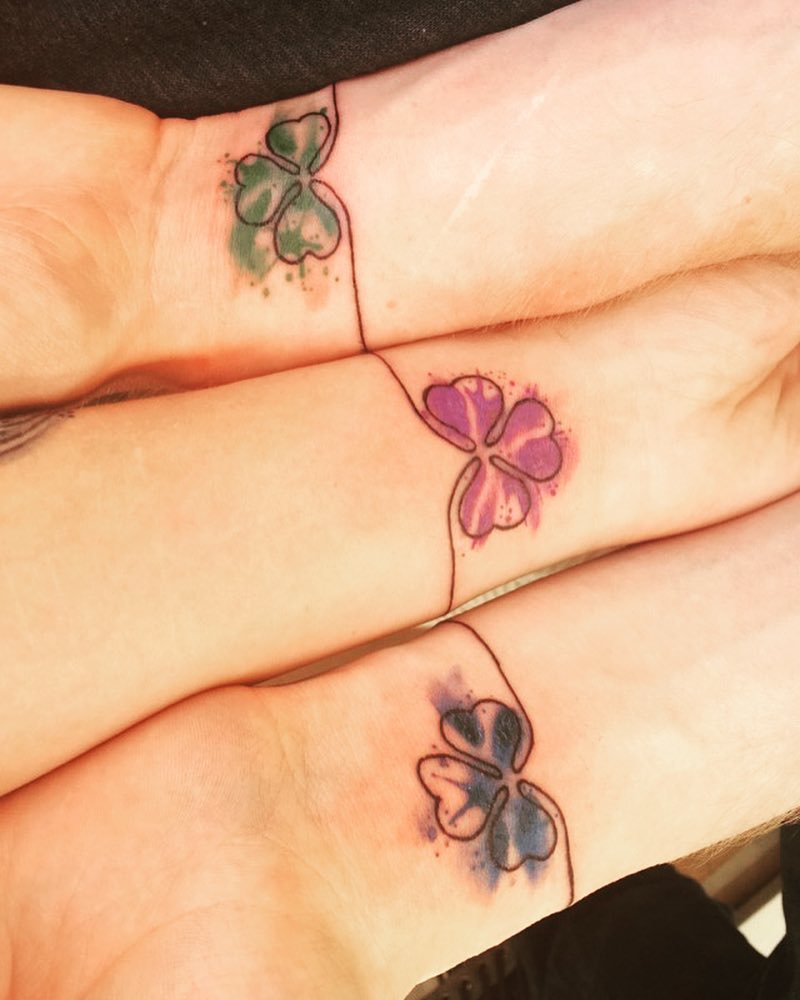 Watercolor Easy Flower Tattoo