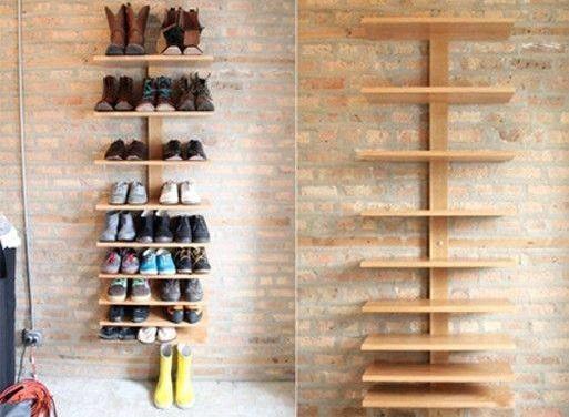 Amazing DIY Shoe Shelves Storage Idea