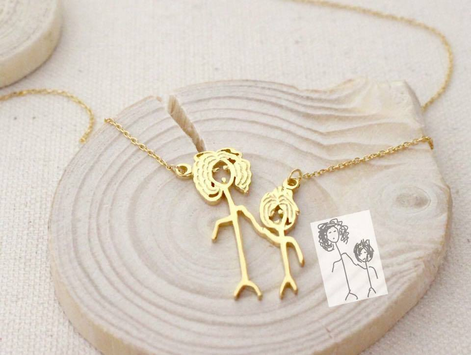 necklace products love charm the to family shipping i and personal back you pendant free moon gift