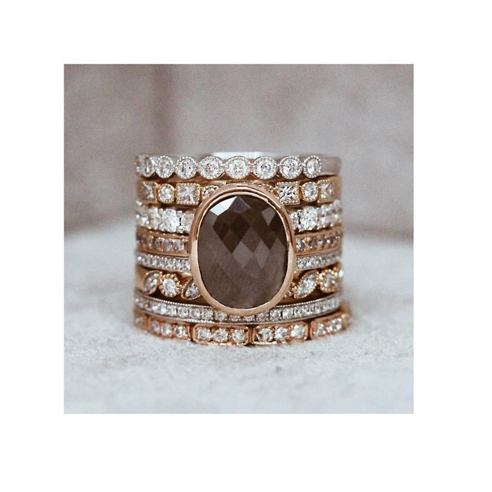 Engagement Ring Round Diamond With Diamond Band