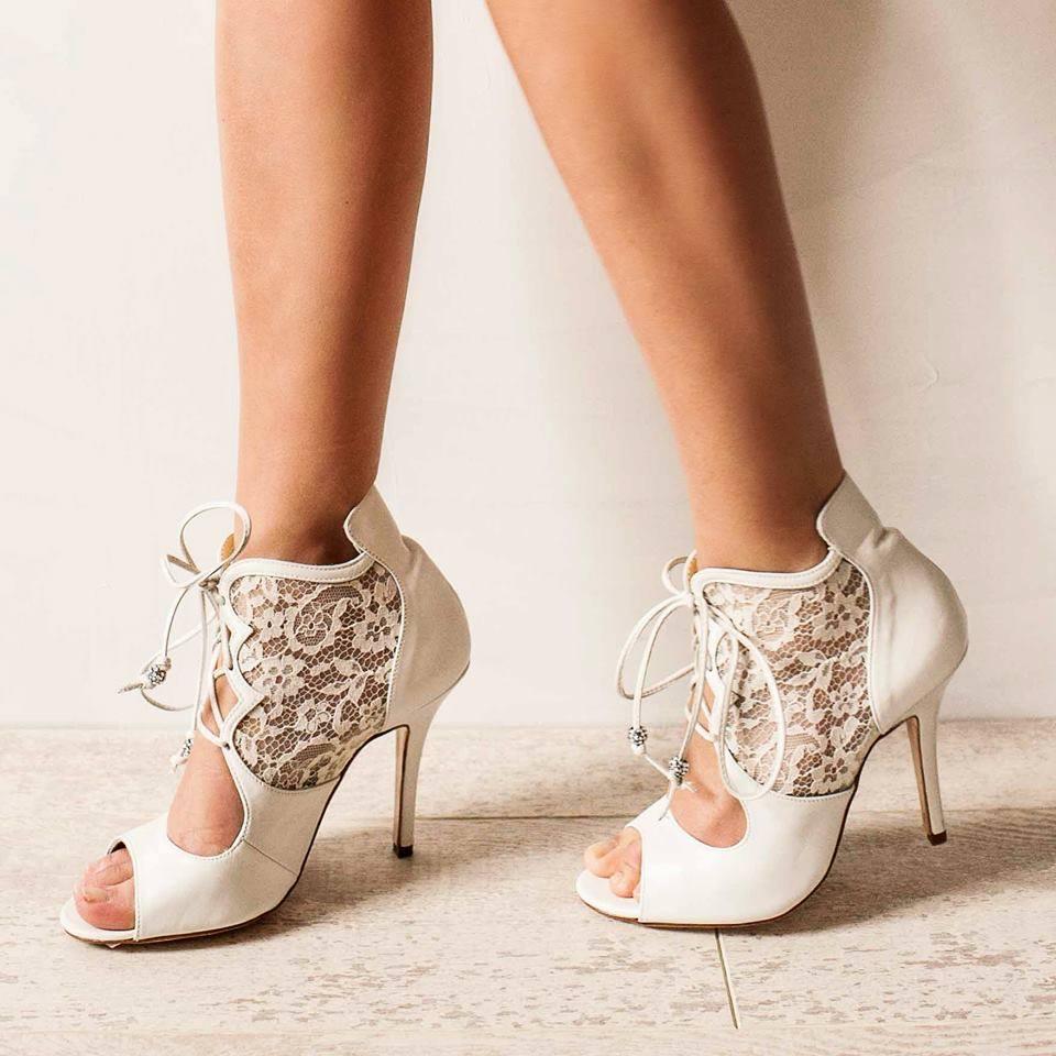 Victorian Peep Toe Vintage Wedding Shoes