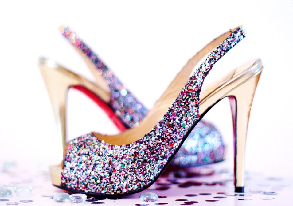 Gingham High Heel Shoes