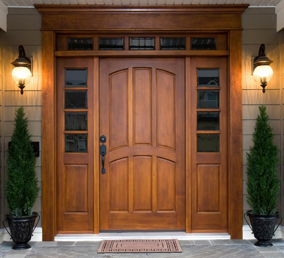 Door Design Ideas Part - 44: Adorable Wooden Front Door