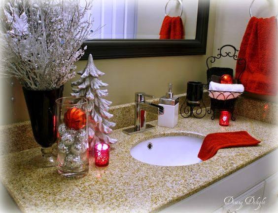 appealing bathroom decoration | 35 Fascinating Bathroom Decor For Christmas Makeover