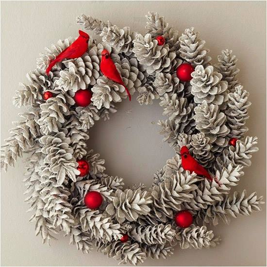 Appealing Pinecone Christmas Wreath