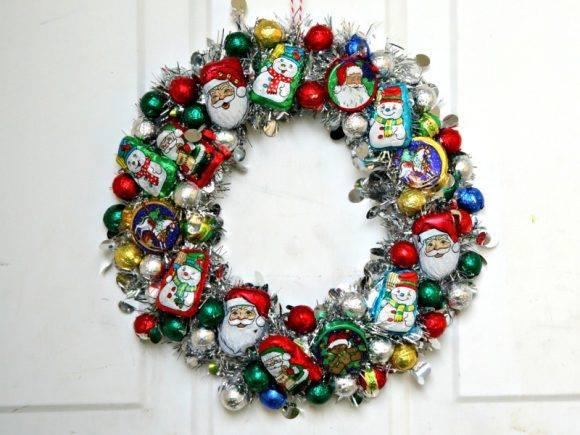 Breathtaking DIY Candy Christmas Wreath