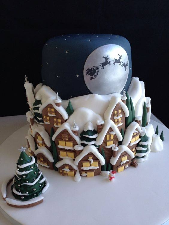 Charismatic Christmas Cake Design