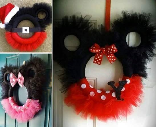 Cool Mini And Mickey Tulle Wreath