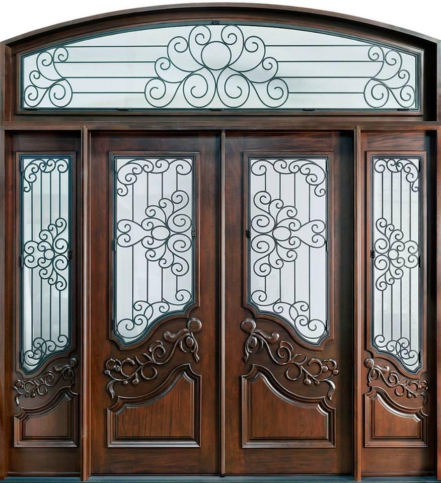 dazzling solid wood front door design