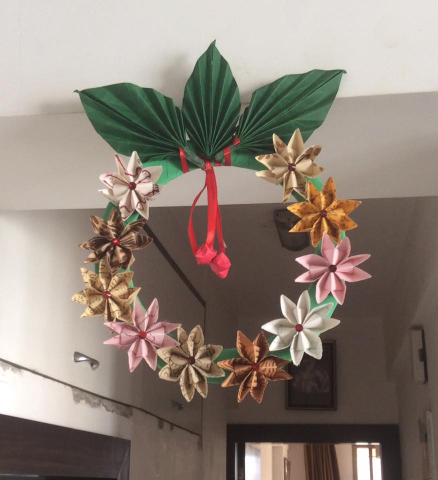 Droolworthy Used Paper Wreath Design