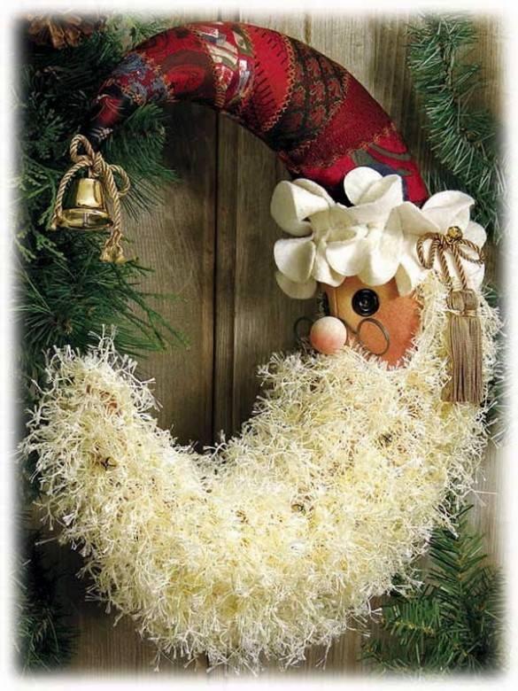 Enhancting Santa Christmas Wreath