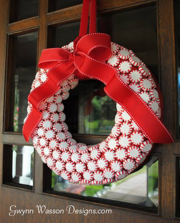 Excellent Idea To Use Peppermint Candy As Wreath