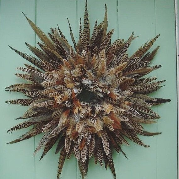 Exciting Feather Christmas Wreath