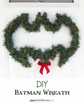 Extraordinary Batman Christmas Wreath
