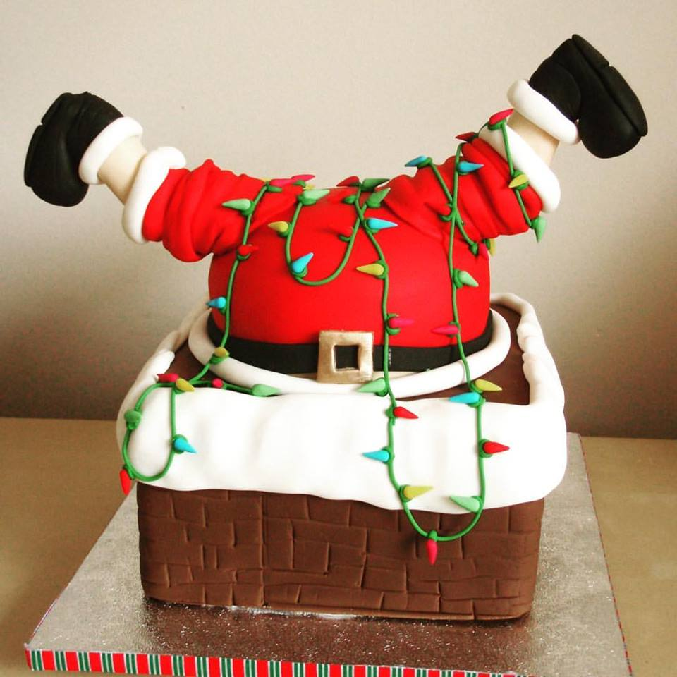 Funky Christmas Cake