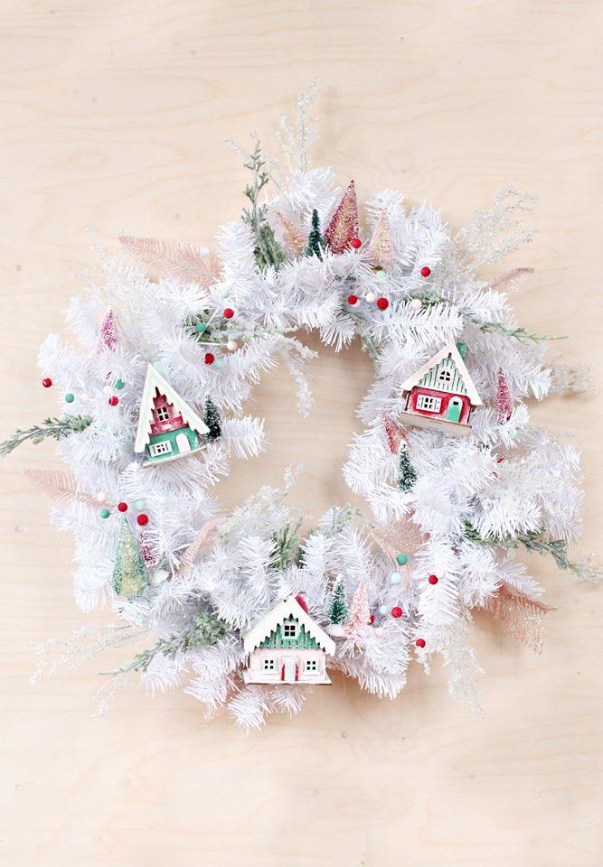 Gorgeous Village Christmas Wreath