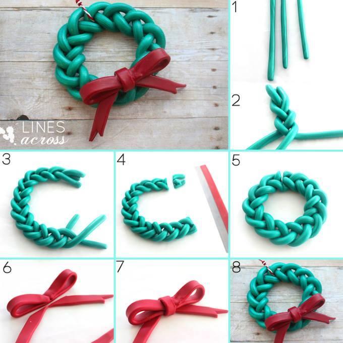 Increadible Polymer Clay Christmas Wreath
