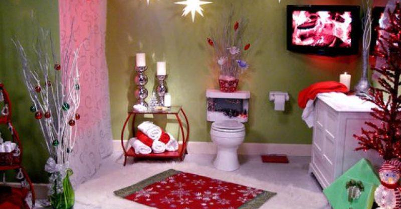 35 fascinating bathroom decor for christmas makeover for Christmas bathroom decor