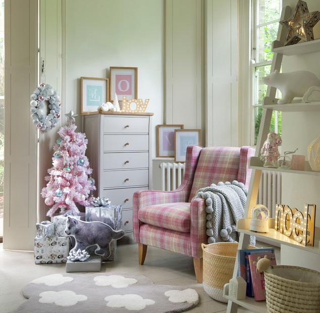 35 fascinating ideas to try for kids 39 room decor for christmas for Pink and grey kids room