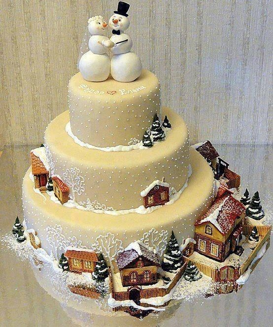 Ravishing Christmas Cake For Wedding