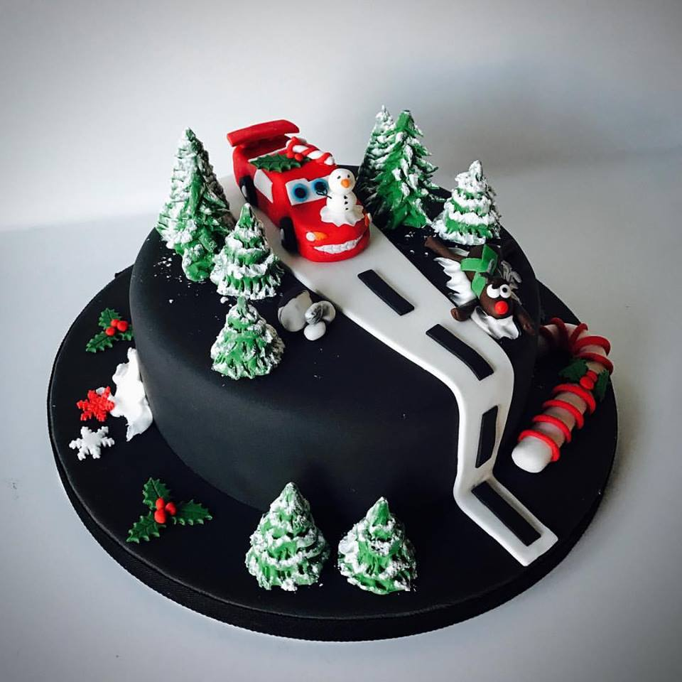 Sassy Dark Chocolate Christmas Cake