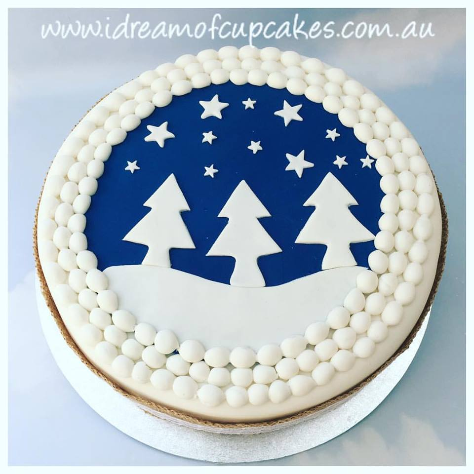Simple Christmas Cake Design