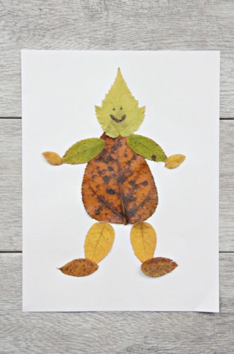 Simple Leaf Man Craft Blurmark