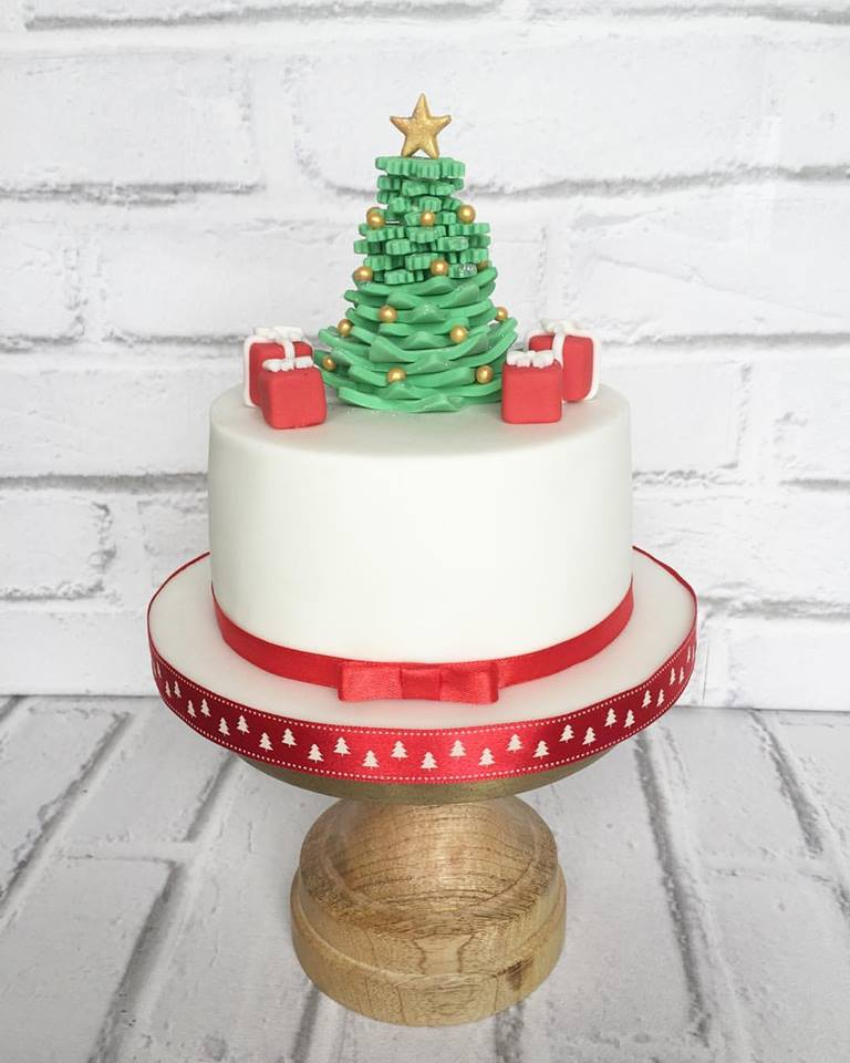 Sober Christmas Cake Design