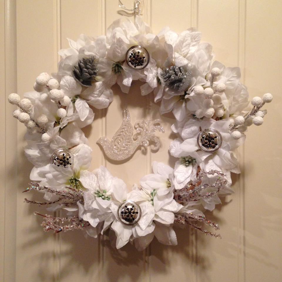 Stunning White DIY Christmas Wreath