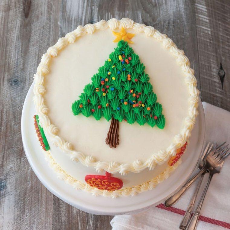 Vibrant Christmas Tree Cake