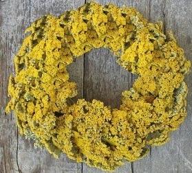 Yellow Fresh Flowers Christmas Wreath